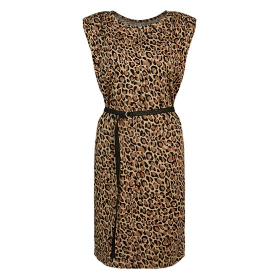 Jurk padded animal print on slub 5s1259-30239-730