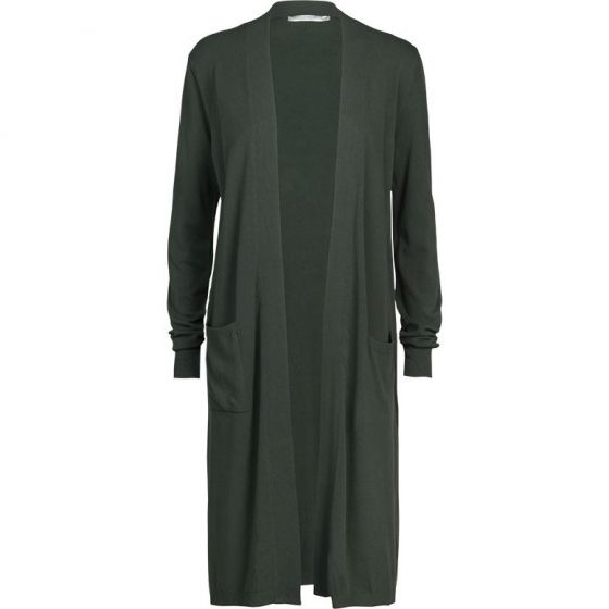 Vest lang basic knit deep green 7s5517-7760-764