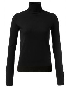 High neck sweater with button 1000216-122-00001