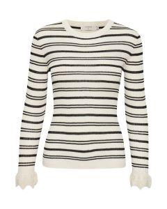 SandyCR Rib Pullover Cream white 10605965-66548