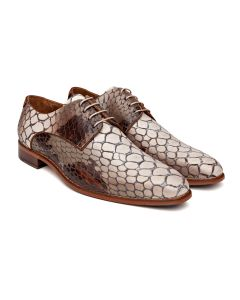 Schoenen Melik tarifa wit bruin 108a054-005