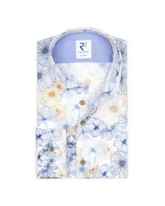 Shirt R2 longsleeve met bloemen print