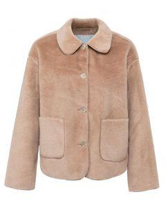 Short fake fur jacket ICE COFFEE 162117-122-71318