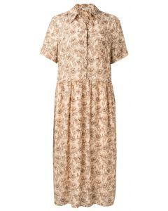 Printed maxi button up dress 1801340-115-211061