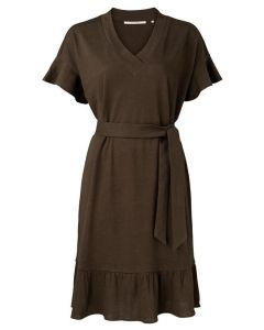 Linen ruffle dress 1809332-115-90812