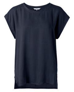 Fabric mix top CARBON DARK BLUE 1901116-122-94012