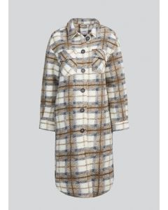 Coat brushed check 1s1028-11461-722