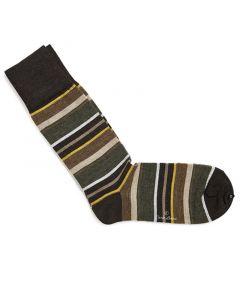Sokken yellow & green stripes 200-15