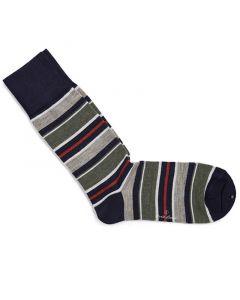 Sokken orange & green stripes 200-16