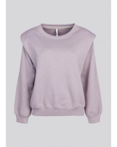 Sweater padded shoulder sweat 3s4558-30263-548