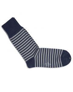 Sokken streep Royal blue 500-49
