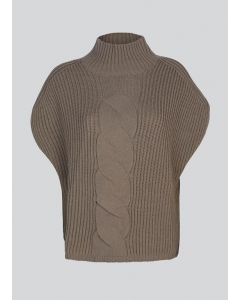 Sleeveless cable sweater knit 7s5593-7842-720
