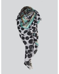 Shawl Art deco paisley scarf 8s767-8392-641
