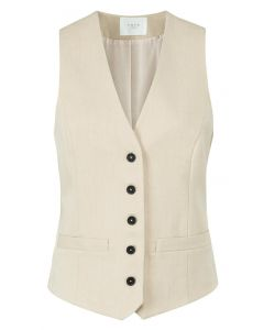 Woven gilet with strap 1521002-123-41208