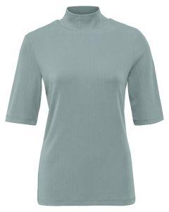 High neck rib top GREYISH GREEN 1909484-123-65806