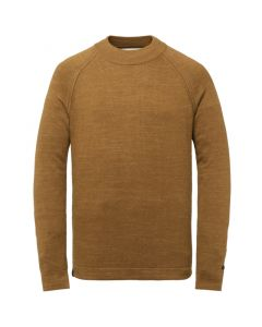 Mock neck cotton heather plated CKW215301-8197