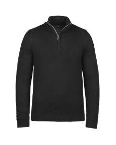 Half zip collar pima cotton Black VKW215306-999