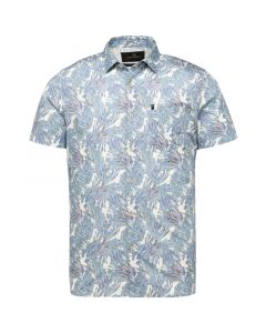 Short Sleeve Shirt Print on poplin VSIS214266-9001